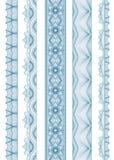Confine ondulato lineare senza cuciture Fotografia Stock Libera da Diritti