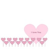 Confine rosa del cuore Vettore Immagini Stock Libere da Diritti