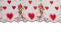 Confine rosso del fiore del cuore con spazio in bianco Fotografie Stock Libere da Diritti