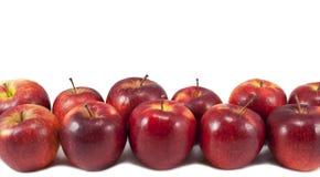 Confine rosso delle mele isolato su bianco Immagine Stock