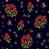 Confine rosso e nero variopinto Immagini Stock Libere da Diritti