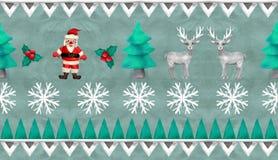 confine senza cuciture del jacquard d'annata di Natale della rappresentazione 3D illustrazione di stock