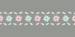 Confine senza cuciture di vettore del fiore pastello royalty illustrazione gratis
