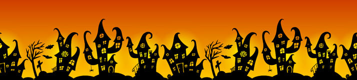 Confine senza cuciture per il partito di Halloween Fotografia Stock