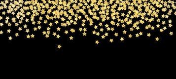 Confine sparso dei coriandoli di forma della stella d'oro immagine stock libera da diritti