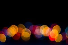 Confine vago variopinto delle luci Fotografia Stock Libera da Diritti
