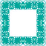 Confine verde blu royalty illustrazione gratis