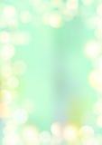 Confine verticale del bokeh del fondo di struttura di verde della menta Fotografie Stock Libere da Diritti