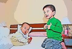 Free Confined Kids Dispute Royalty Free Stock Photos - 180005188