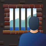 Confinement Prisoner Detainee Man Jail Royalty Free Stock Photography