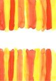 Confini decorativi dell'acquerello Fotografie Stock Libere da Diritti