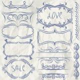 Confini decorativi floreali, regole ornamentali, divid Fotografia Stock Libera da Diritti