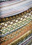 Confini del tessuto Fotografie Stock
