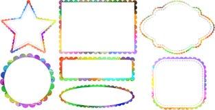 Confini dell'etichetta dell'acquerello Fotografie Stock