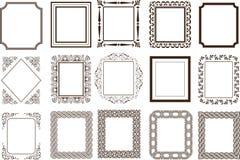 Confini della pagina delle pagine fotografia stock