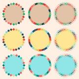 Confini dolci e variopinti del cerchio Fotografie Stock