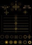Confini ed ornamenti dell'oro Fotografia Stock Libera da Diritti
