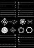 Confini ed ornamenti della raccolta Immagine Stock