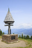 Confini il triangolo dell'Austria, dell'Italia e della Slovenia Fotografia Stock
