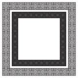 Confini neri quadrati decorati Fotografia Stock Libera da Diritti