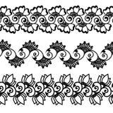 Confini orientali decorativi del fiore di mehndi Royalty Illustrazione gratis