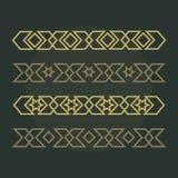 Confini ornamentali islamici Reticolo arabo Insieme arabo del modello Ornamento islamico Fotografie Stock Libere da Diritti