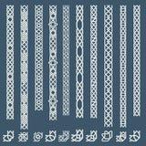 Confini ornamentali islamici senza cuciture Fotografia Stock