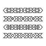 Confini ornamentali islamici senza cuciture Fotografia Stock Libera da Diritti
