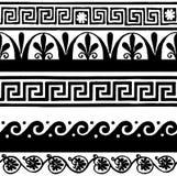 Confini senza cuciture antichi - disegno della mano Immagini Stock