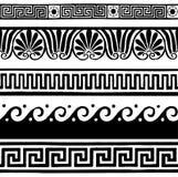 Confini senza cuciture antichi - disegno della mano Fotografia Stock