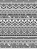 Confini senza cuciture aztechi geometrici etnici in bianco e nero modello, vettore Immagine Stock Libera da Diritti