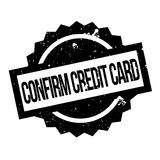 Confirm Credit Card rubber stamp Stock Photography