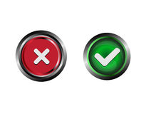 Confirm and Decline buttons vector Stock Photography