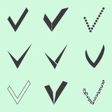 Confirm icons set. Vector illustration Royalty Free Stock Image
