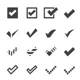 Confirm icons Stock Photography