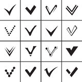 Confirm signs set and tick icons Royalty Free Stock Photo