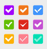 Confirm symbol set Royalty Free Stock Photo