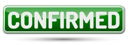 CONFIRMADO - Botão bonito abstrato com texto Imagem de Stock Royalty Free