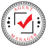 Confirmation for Agent or Manager. Creative symbol of confirmation for the Agent or Manager. Vector illustration Royalty Free Stock Photos