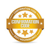 Confirmation code seal illustration design. Over a white background Royalty Free Stock Photos