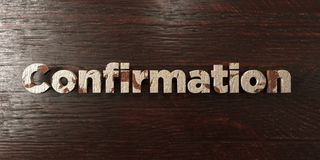 Confirmation - grungy wooden headline on Maple  - 3D rendered royalty free stock image. This image can be used for an online website banner ad or a print Stock Images