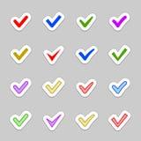 Confirme ícones Fotografia de Stock Royalty Free