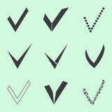 Confirme os ícones ajustados ilustração stock