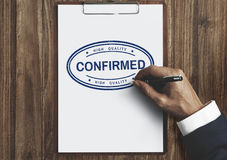 Confirmed Approval Result Certified Authorised Concept royalty free stock photography