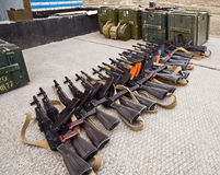 Confiscated weapons Stock Photos