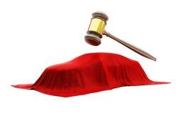 Confiscation du véhicule pour la décision de cour Images libres de droits