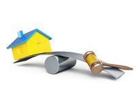 Confiscation of homes, seizure Royalty Free Stock Photography