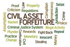 Confisco civil do ativo Imagem de Stock