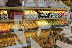Confiserie et nourritures à Istanbul, Turquie Images stock