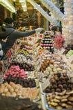 Confiserie sur le marché de Noël photo libre de droits